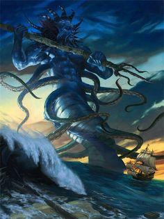 Poseidón  (griego antiguo: Ποσειδῶν3 , romanización: Poseidỗn, es el dios del mar, las tormentas y, como «Agitador de la Tierra», de los terremotos en la mitología griega. El nombre del dios marino etrusco Nethuns fue adoptado en latín para Neptuno en la mitología romana, siendo ambos dioses del mar análogos a Poseidón. Poseidón fue venerado en Pilos y Tebas en la Grecia micénica de finales de la Edad del Bronce, pero fue integrado en el panteón olímpico posterior como hermano de Zeus y…