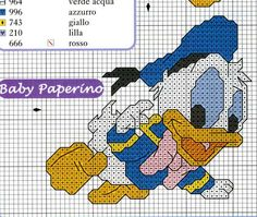 Schema punto croce Baby paperino2
