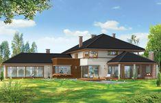 Projekt domu Willa z basenem Home Fashion, Interior Architecture, House Plans, Cabin, Mansions, House Styles, Home Decor, Architecture Interior Design, Decoration Home