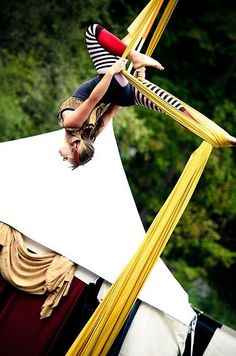 more stripes and such! love the yellow silk.  Aerialist - Zizka    dianezizka.com