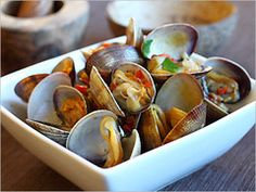 Clams with bean sauce