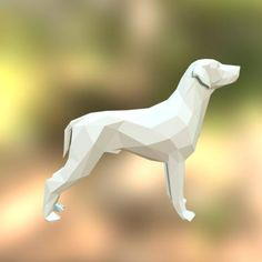 Printable DIY template (PDF). Dog low poly paper model. You can see this 3D model right now: https://sketchfab.com/models/13890cc116ef461bbfbcd19356963bcb ........................................................................................................................... This is a great opportunity to create cool home decoration with family or friends! Paper sculptures give you unlimited opportunities to use them. They are light, you can place them on any surf...