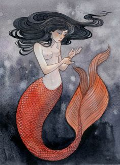 I like the tail on this one. Mermaid by reneenault on deviantART