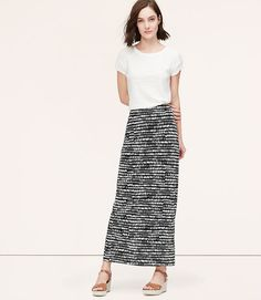Pebbled Maxi Skirt