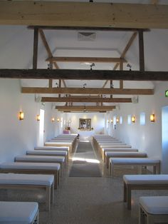 Looking down the aisle