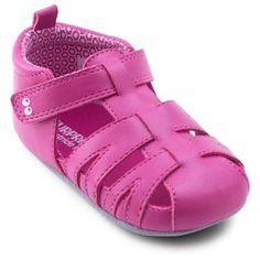 • Sturdy construction is durable and lightweight<br>• Comfy rounded toe<br>• Back tabs for easy dressing<br>• Hook & loop closure keeps her foot secure <br><br>Details: Surprize by Stride Rite girls' pink sandal. The must-have summer sandal for all active little girls. Made with PU upper and printed jersey lining.  Hook & loop closure. Foam insole for extra comfort.  Non-slip rubber outsole for light outdoor wear ma...