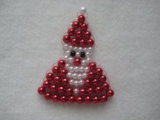 www.etwas-special - Gifts & Decorations for someone special - Shop Beaded Christmas Decorations, Christmas Paper Crafts, Felt Christmas Ornaments, Beaded Ornaments, Ornament Crafts, Christmas Angels, Pony Bead Patterns, Beaded Jewelry Patterns, Beaded Dragonfly