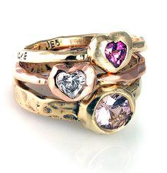 Sapphires, Diamonds, Pink Quartz rings to last a lifetime.