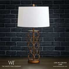 Fall in love with the charming Love Me Forever lamp. https://whiteteak.com/love-me-forever-lamp  #Lighting #Lamps #Lifestyle #WhiteTeak
