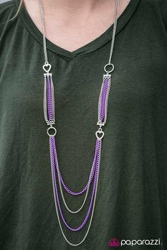 A Good Man Is HEART To Find Purple Necklace