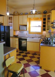 Vct Tile In Checker Board Pattern Design, Pictures, Remodel, Decor and Ideas