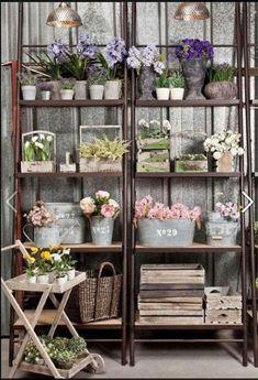 Flower shop decor ideas shelves for booth display add flowers florist shop decor ideas . Flower Shop Decor, Flower Shop Design, Flower Designs, Floral Design, Flower Shop Interiors, Jardin Decor, Deco Originale, Flower Studio, Shop Interior Design