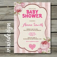 Lace rustic baby shower invitation pink vintage by 3peasprints vintage tea party baby shower rustic invitation by irinisdesign 1699 filmwisefo