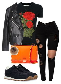 """""""Untitled #634"""" by nayedm on Polyvore featuring Off-White, Valentino, Reebok and Rebecca Minkoff"""