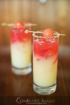 Colorful cocktails for #wedding cocktail hour