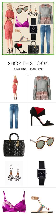 """From Top Sellers"" by cate-jennifer ❤ liked on Polyvore featuring Alexis, Veronica Beard, Hudson, Stuart Weitzman, Christian Dior, Karen Walker, Isabel Marant, Carine Gilson and Fendi"