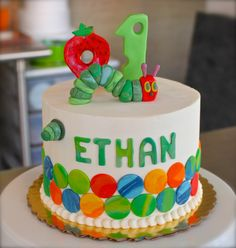 hungry caterpillar birthday cake - Google Search