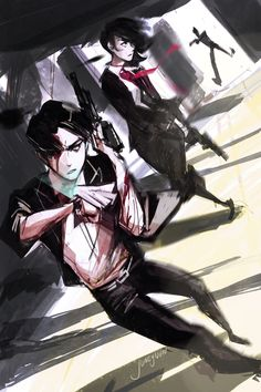 Levi and Mikasa - Agent Ackermen by juneyijun.deviantart.com on @DeviantArt