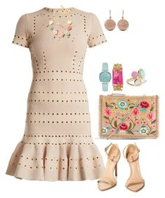 """""""Spring & Nude"""" by gia-ladyboss on Polyvore featuring Alexander McQueen, Topshop, Kate Spade, Sequin, Carolina Bucci and Ippolita"""