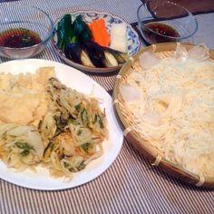 ✳︎素麺 ✳︎天ぷら・鶏天・かき揚げ - 3件のもぐもぐ - 7月3日 夜ごはん by narunaruchan