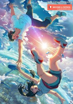 Tenki No Ko by xong on DeviantArt Film Anime, Anime Art, Tsurezure Children, Your Name Anime, Digital Art Anime, Kimi No Na Wa, Cute Anime Couples, Anime Scenery, Animation Film