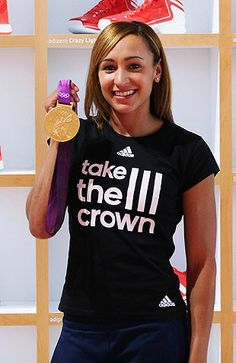 Fan in labor misses Jessica Ennis' (pictured) Olympic gold, names baby in her honor. (Photo by: Getty Images)