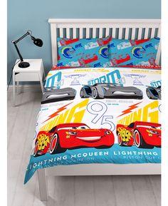 Cars Go Go Go - Dekbedovertrek - Eenpersoons - 140 x 200 cm - Rood Housse De Couette Flash Mcqueen on