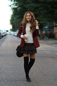 plaid skirt2