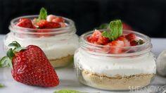 Easy No-bake strawberry cheesecake recipe