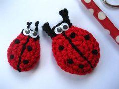 Crochet ladybird, free pattern.   Direct to pattern: http://attic24.typepad.com/weblog/crochet-ladybirds.html