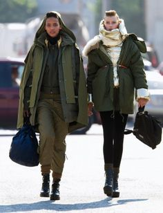 From left: H&M hooded parka; Zadig & Voltaire puffer coat; DKNY gold vest; Rag & Bone jacket (zipped); Equipment turtleneck; Adidas by Stell...