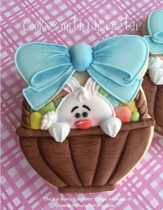 Easter basket bunny cookie