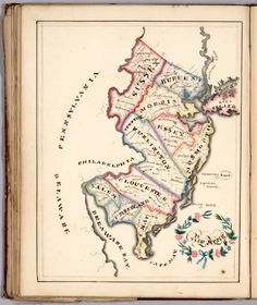 David Rumsey Historical Map Collection | Harriet E. Baker's Book of Penmanship & Maps. At Mr. Dunham's School Windsor Vermont March 31, 1819