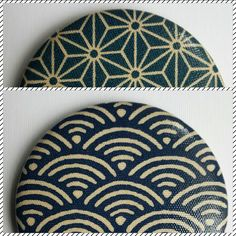 "magnets ""Japon chic"" tissu enduit // 56mm"