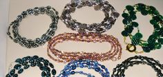 Various #long (can double or triple) necklaces of Czech glass beads