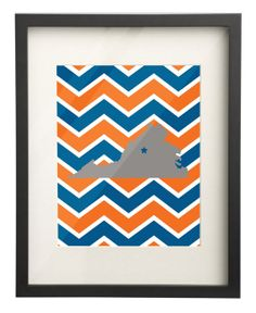 University of Virginia (UVA) State Map 8x10 Chevron Print $15.00 Etsy Use: PIN10 for 10% OFF!