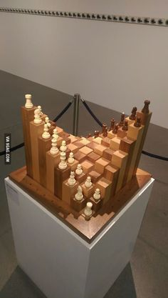 I want to play this chess! #coolwoodwork
