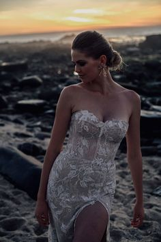 Wild in Bloom — Alena Leena Timeless Wedding, Satin Skirt, Chantilly Lace, Lace Bodice, Girls Dream, Beaded Lace, Dream Dress, Strapless Dress Formal, Gowns