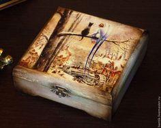 """Шкатулки ручной работы. Ярмарка Мастеров - ручная работа Шкатулка """"Кот и ангел"""". Handmade."""