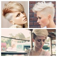 . #shaved #sides #pixie #edgy