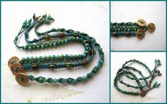 The Gossiping Goddess: Free Bracelet Tutorial.  Love these colors!  #handmade #jewelry #beading #knotting