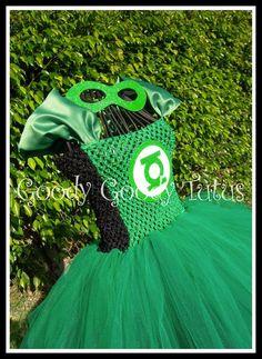 GREEN LIGHT Green Lantern Inspired Tutu Dress - Up to Girls 4-6T
