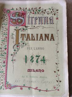 """""""""""Da Strenna Italiana """""""