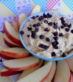 Fluffy Peanut Butter Chocolate Chip Apple Dip (Lower Fat, Bigger Taste)