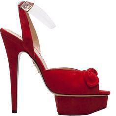 Charlotte Olympia Serena Platform Sandal - Buy Online - Designer Ankle Wrap, Platform, Sandals