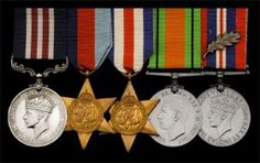 """Second World War medals, including a Military Medal awarded to Sergeant I. J. Grant, Royal Army Ordnance Corps, who was decorated for his services as a cameraman in the Army's Film and Photographic Unit (A.F.P.U.): he later published Cameramen at War, a vivid account of his experiences under fire - having landed with Lord Lovat's Commando Brigade on D-Day and covered the crossing of """"Pegasus Bridge"""", he and his camera accompanied 11 Armoured Division throughout the N.W.E. campaig"""