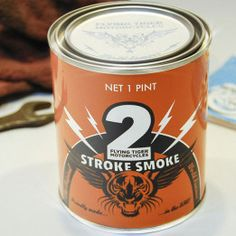 The Two Stroke Smoke Candle Is Made With Actual Motor Oil