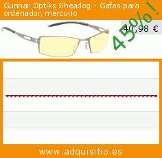 Gunnar Optiks Sheadog - Gafas para ordenador, mercurio (Accesorio). Baja 45%! Precio actual 40,98 €, el precio anterior fue de 74,68 €. https://www.adquisitio.es/gunnar-optiks/sheadog-gafas-ordenador