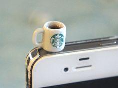 Starbucks Coffee Phone Plug < so cute!