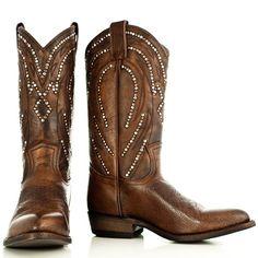 Bruine cowboylaarzen met studs - Frye Cowboy Boots | Boeties.nl